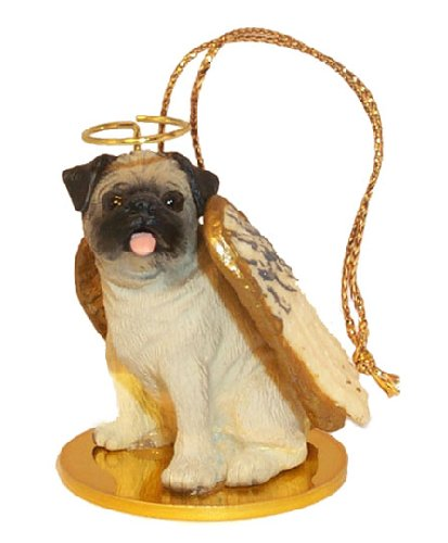 Pug Angel Dog Ornament – Fawn by Conversation Concepts