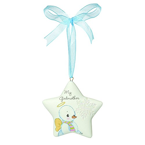 """Precious Moments, Christmas Gifts, """"My Godmother"""", Porcelain Ornament, #161057"""