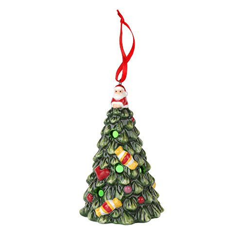 Spode Christmas Multicolored Tree LED Ornament