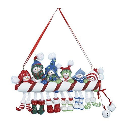 Kurt Adler Candy Cane Snowman Family OF 6 Ornament