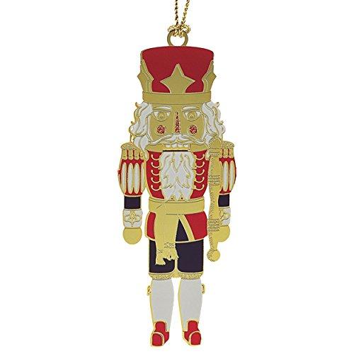 New 24K Gold Classic Nutcracker Christmas Tree Ornament