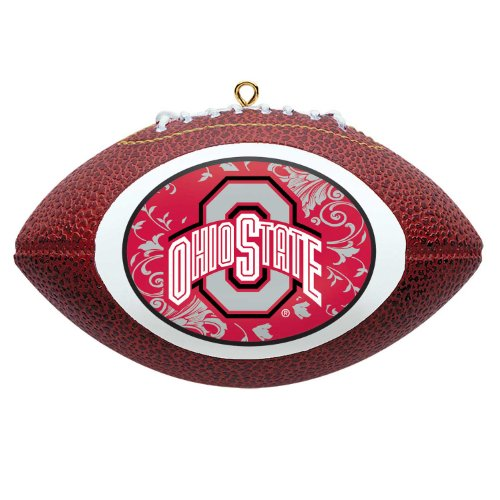 NCAA Ohio State Buckeyes Mini Replica Football Ornament