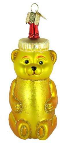 Old World Christmas Honey Bear Glass Blown Ornament