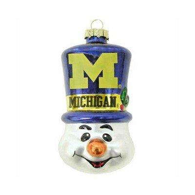 Michigan Wolverines 3 1/2″ Top Hat Snowman Ornament