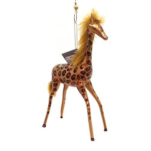 De Carlini GIRAFFE WITH MANE Glass Animal Hand Painted A5056