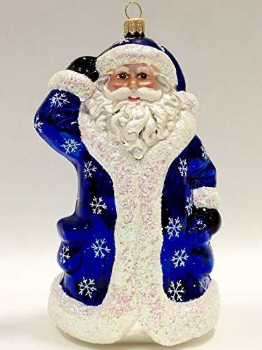 Ornaments to Remember: BECKONING SANTA Christmas Ornament (Snowflake)