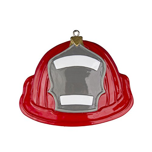 Fireman Hat Personalized Christmas Ornaments