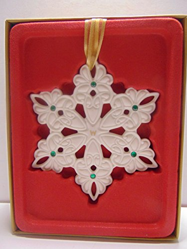 Wedgwood Snowflake with Green Gems