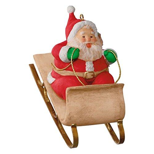 Hallmark 2016 Sledding Santa Christmas Ornament