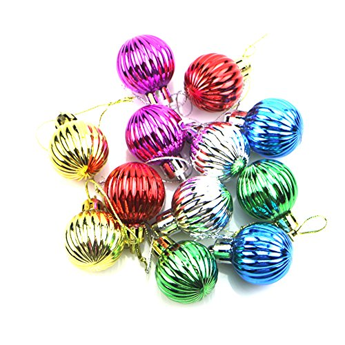 Skaw Doly 12pcs 3cm Christmas Tree Multicolor Balls Decoration Party Wedding Ornament Xmas