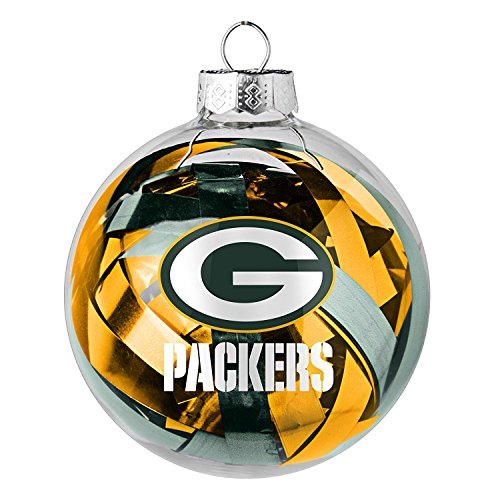 NFL Officially Licensed Green Bay Packers Tinsel Filled Ball Ornament