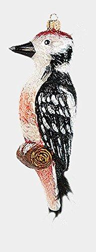 Woodpecker Bird Polish Mouth Blown Glass Christmas Ornament Tree Decoration