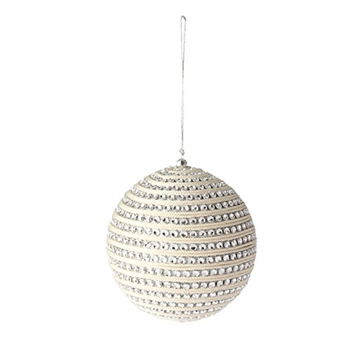 4.5″ RHINESTONE STRIPED BALL ORNAMENT
