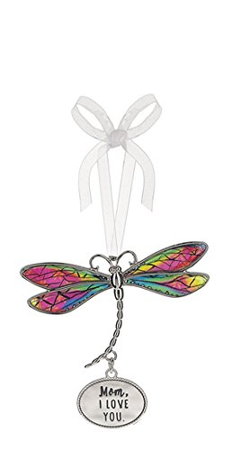 Mom, I Love You Rainbow Inlay Wings Dragonfly Ornament – By Ganz