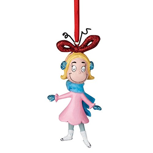 Department 56 Grinch Sports Cindy Skating Ornament, 3.5″
