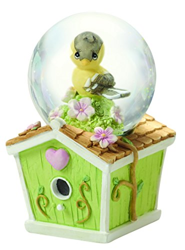 Precious Moments, Easter Gifts, Mini Snow Globe, Goldfinch Birdhouse, #154443