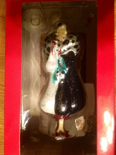 Cruella De Ville Blown Glass Ornament Hallmark Disney