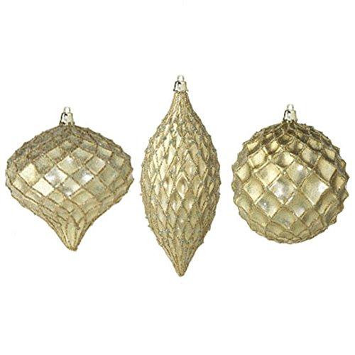 RAZ Imports – 6.5″ Glittered Ornaments – Set of 3