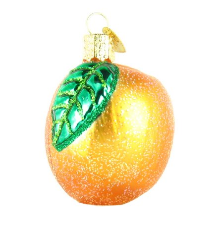Old World Christmas Apricot Glass Ornament