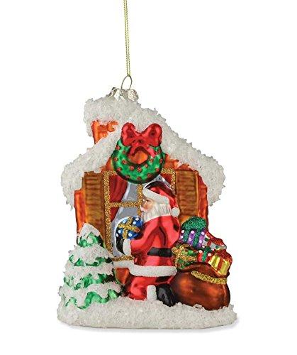 Bethany Lowe Santa at Window Ornament DA3317