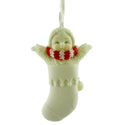 Dept 56 Snowbabies BLANK STOCKING ORNAMENT 68135 Christmas Personalize
