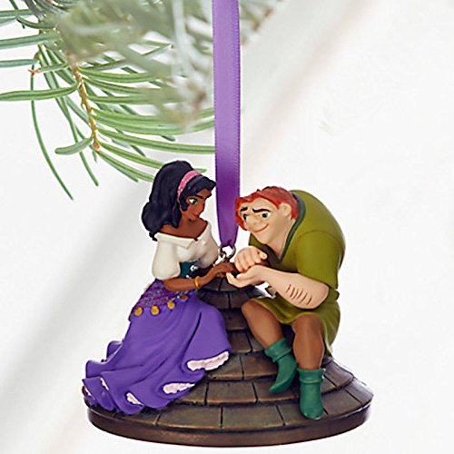 Disney 2016 Quasimodo Esmeralda Sketchbook Christmas Ornament