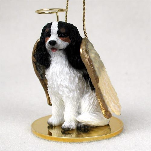 Cavalier King Charles Spaniel Angel Dog Ornament – Tri Color
