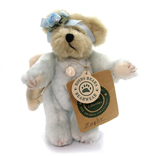 Boyds Bears Plush ZEPHR ANGEL ORNAMENT Fabric Teddy Bear Jointed Wings 562306