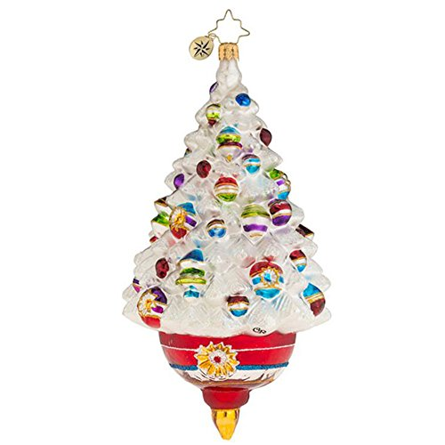 Christopher Radko Adorned Frosted Delight Glass Christmas Ornament