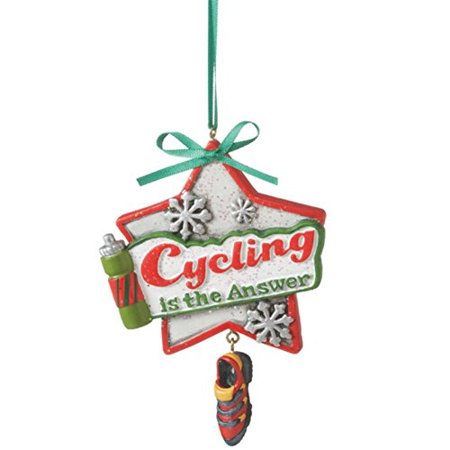 Cycling is the Answer Biking Ornament by Midwest-CBK