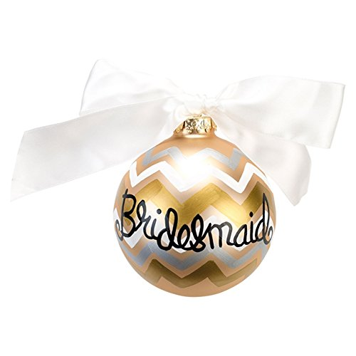 Coton Colors Metallic Bargello Bridesmaid Glass Ornament