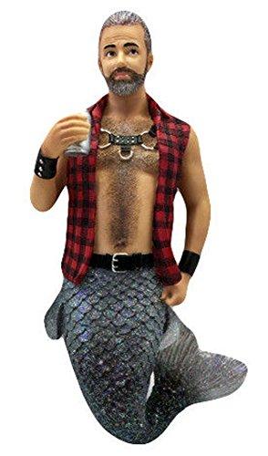 December Diamonds Sir Leather Merman Wearing Flannel Christmas Ornament 5555043