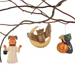 Mini Halloween Ornaments Set of 3