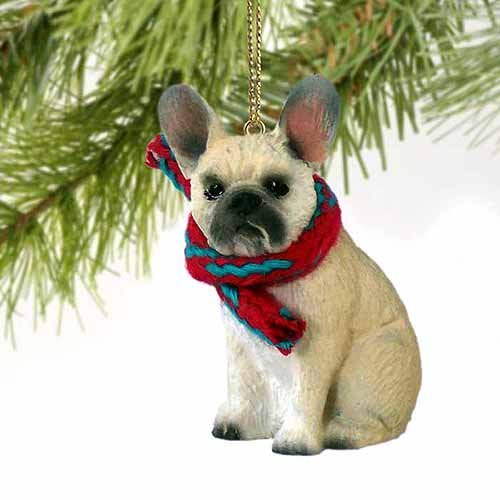 French Bulldog Tiny Miniature One Christmas Ornament Fawn – DELIGHTFUL! by Conversation Concepts