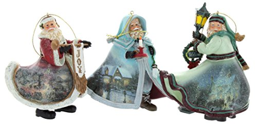 Thomas Kinkade Old World Santa Ornaments (Set of 3) Issue #19
