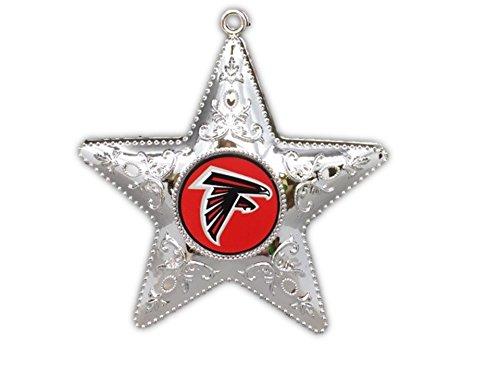 Atlanta Falcons 4.5″ Silver Star Ornament