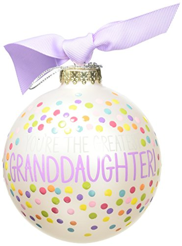 Coton Colors You're the Greatest Granddaughter Glass Ornament