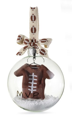 Mud Pie : Baby Football Ornament