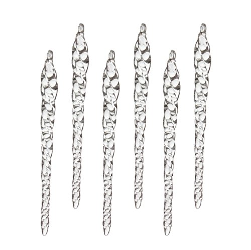 6.5″ Glass Icicle Ornaments , set of 6