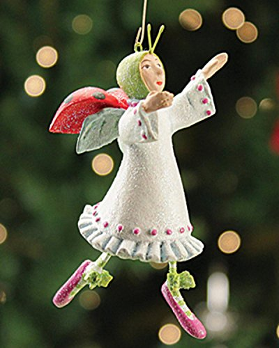 3.5″ Patience Brewster Krinkles Mini Lady Dancing 12 Days of Christmas Ornament