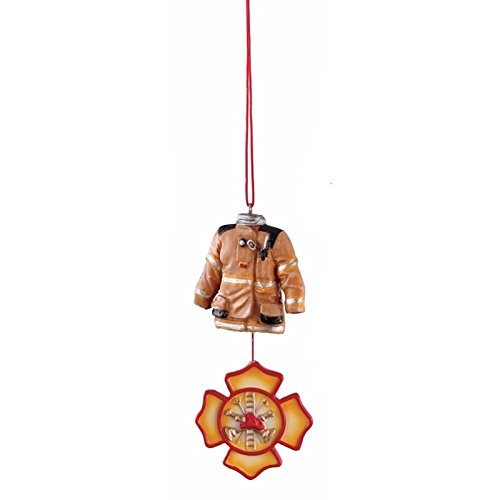 Firefighter Holiday Dangle Ornament Midwest CBK 1023290