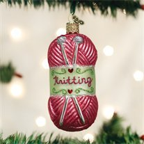 Old World Christmas Knitting Yarn Handcrafted Hanging Tree Ornament
