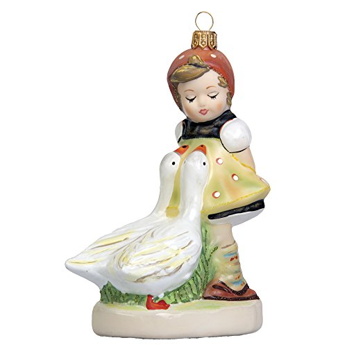 Authentic M.I. Hummel Goose Girl Glass Ornament