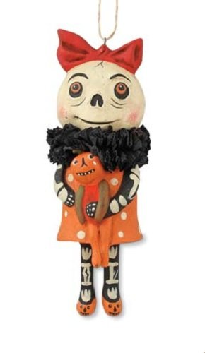 Bethany Lowe Happy Halloween Ornaments HH4868 (Holding Doll)