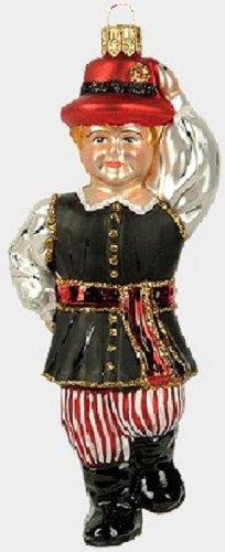 Polish Dancing Boy Poland Glass Christmas Ornament Made in Poland Decoration