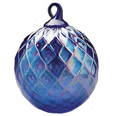 September Birthday- Hand Blown Glass Ornament – Sapphire