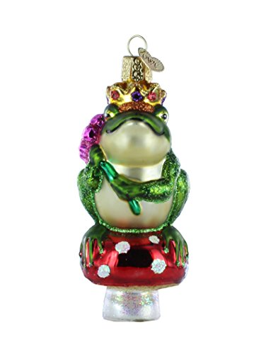 Old World Christmas Frog Prince Glass Blown Ornament