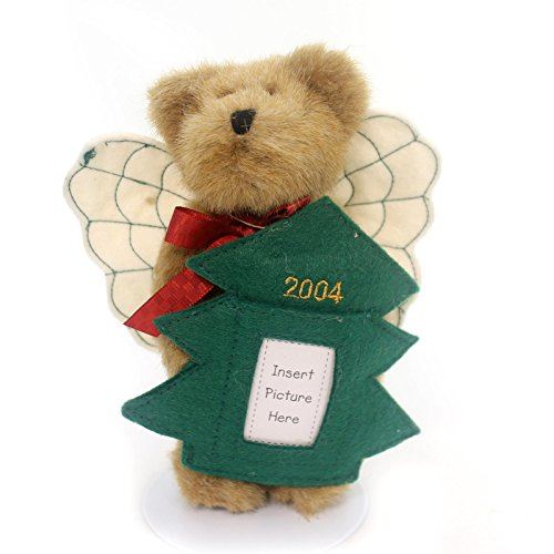 Boyds Bears Plush HOLLY ORNAMENT Fabric Teddy Bear Angel Tree Photo 562522