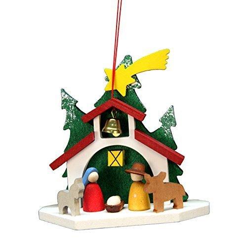 "10-0582 – Christian Ulbricht Ornament – Chapel Holy Family – 3.75″""H x 3.5″""W x 1.5″""D by Alexander Taron Importer"