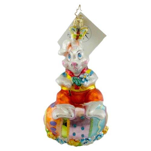 Christopher Radko BUNNY HATCH Glass Ornament Easter Egg Spring